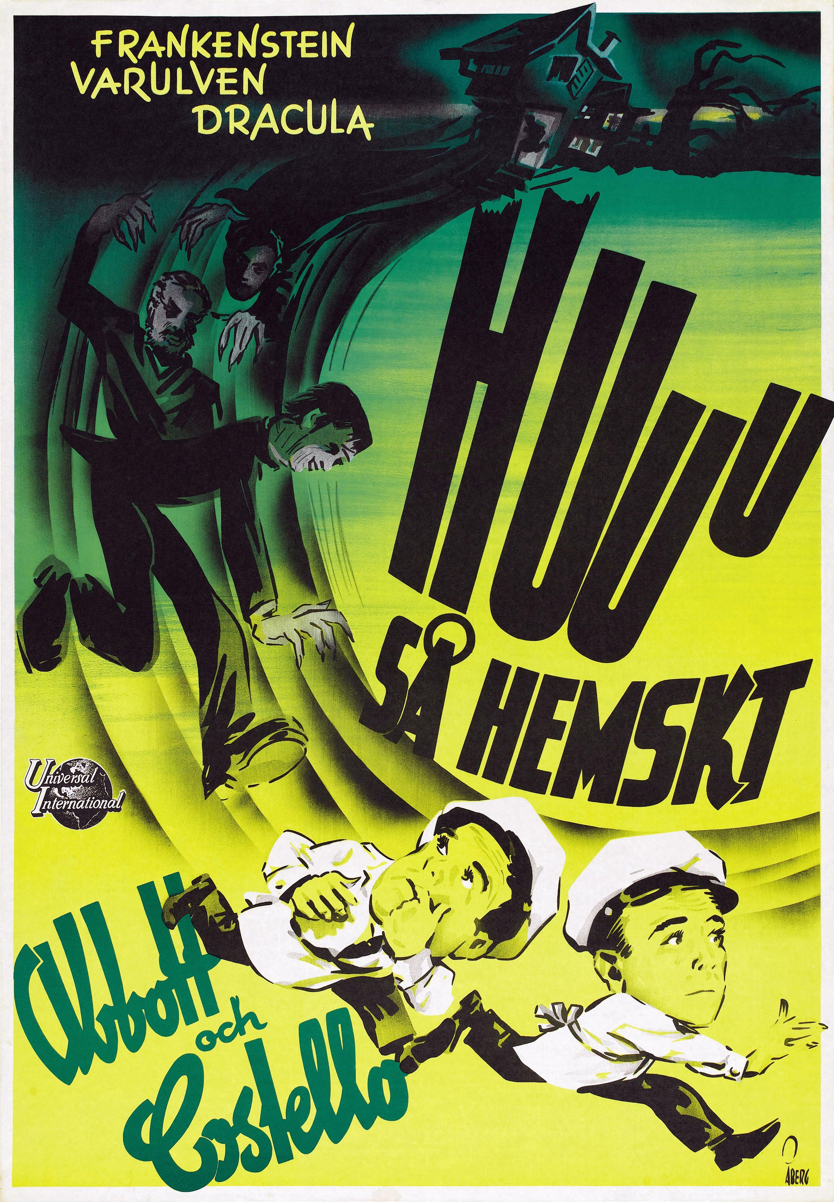 Foreign poster for Universal's Abbott And Costello Meet Frankenstein (1948)