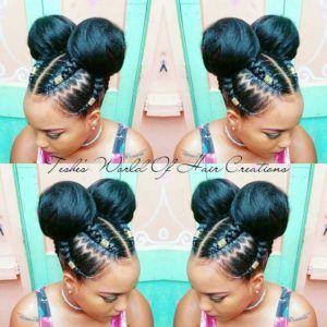 Fulani braids # fulani Braids with yarn