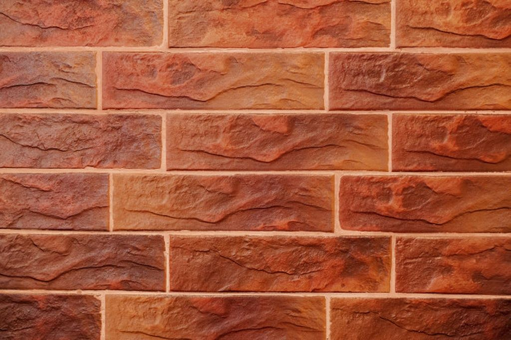 Red Brick Wall Decorative Brick With Artificial Defects And Cracks Texture Of Decorative Tiles In Form Of Brick In 2020 Brick Decor Decorative Tile Red Brick Walls