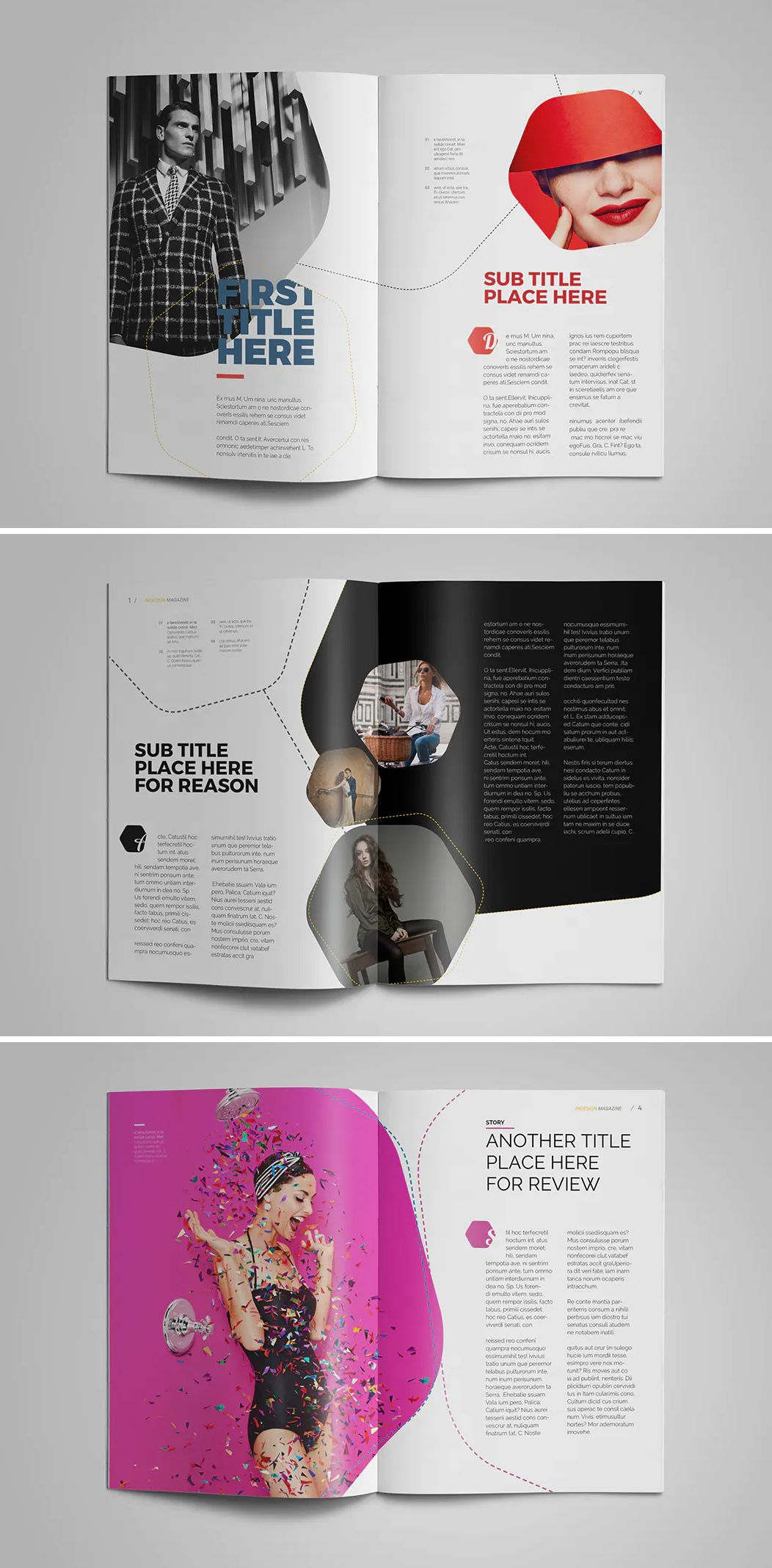 Clean and Elegant Magazine Template InDesign. 32 Pages