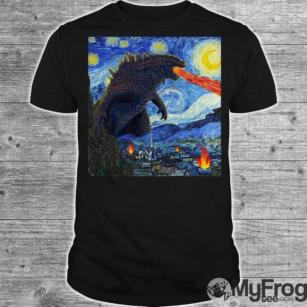 Starry Night Godzilla shirt Starry night, Godzilla