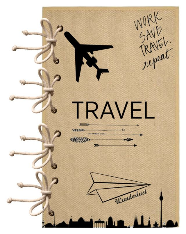"""""""travel scrapbook"""" by callierider ❤ liked on Polyvore featuring art and diybookcover"""