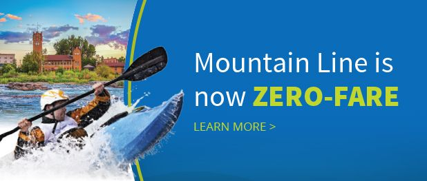 The Mountain Line bus system has extensive coverage of Missoula, and all routes are free!