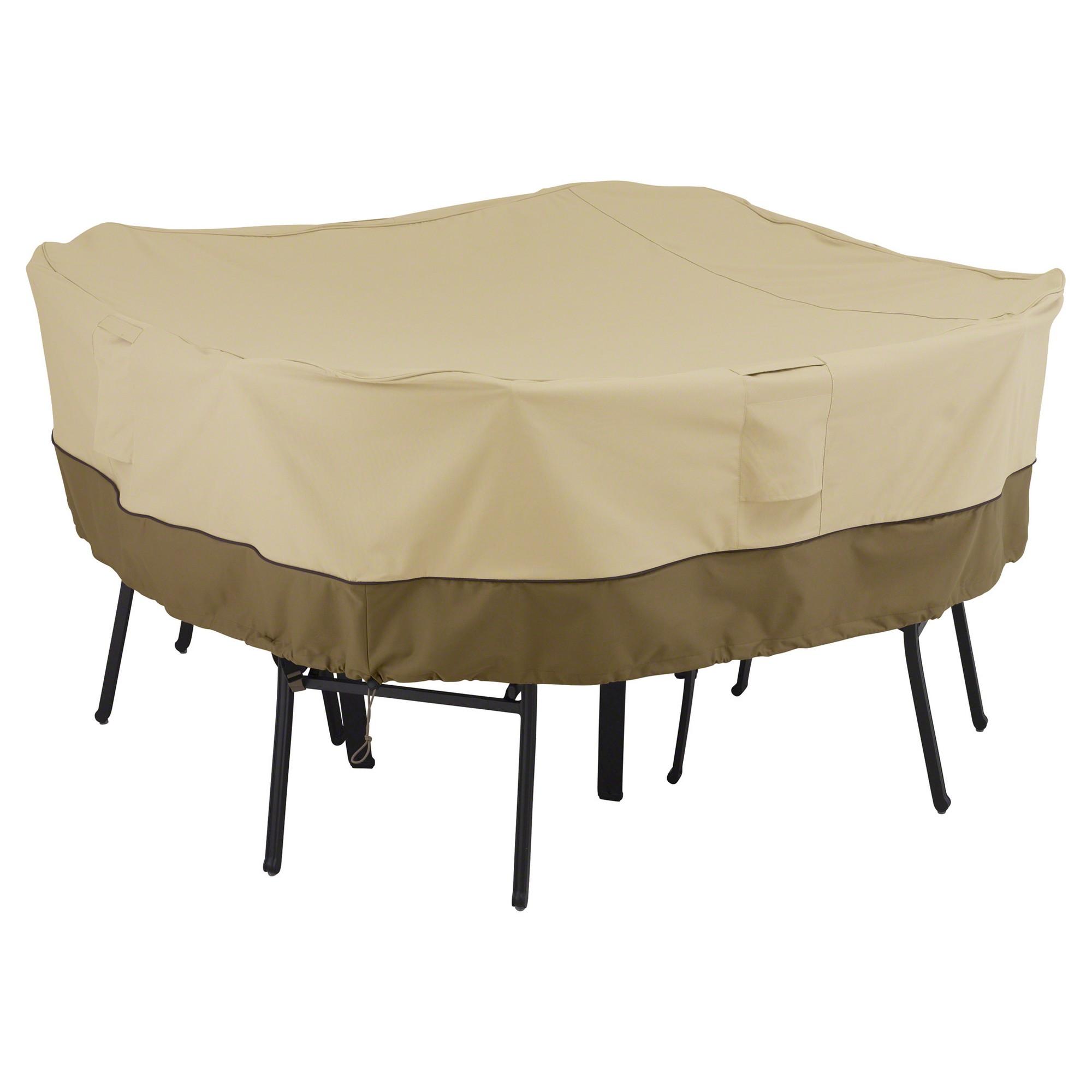 Veranda Medium Square Patio Table And 4 Chairs Cover Light Pebble Clic Accessories