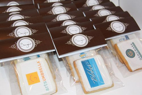 Brand your cookies. Sugar Vancouver  http://sugarvancouver.com/cookies/corporate-gifts/
