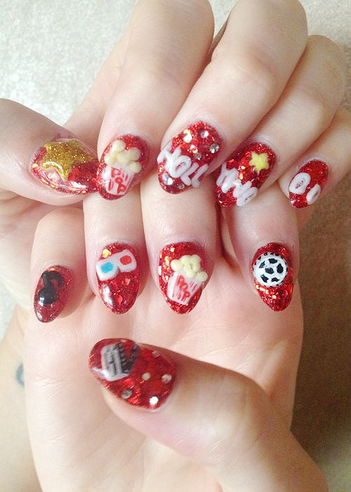 Katy Perry\'s nails for the Part of Me premiere in LA....how can ...