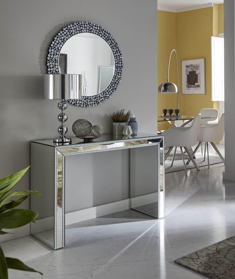 Consoles Avec Plaques De Miroir Face Design Et Qualite Dans Les Meubles Miroir Meuble Miroir Idee Deco Entree Maison Mobilier De Salon