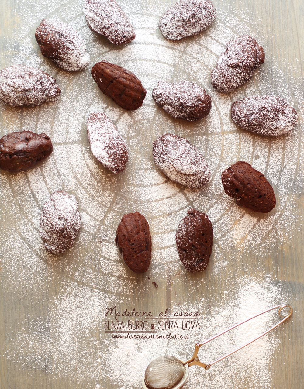 madeleine senza lattosio http://www.diversamentelatte.it/madeleine-al-cacao-senza-burro-e-senza-uova/