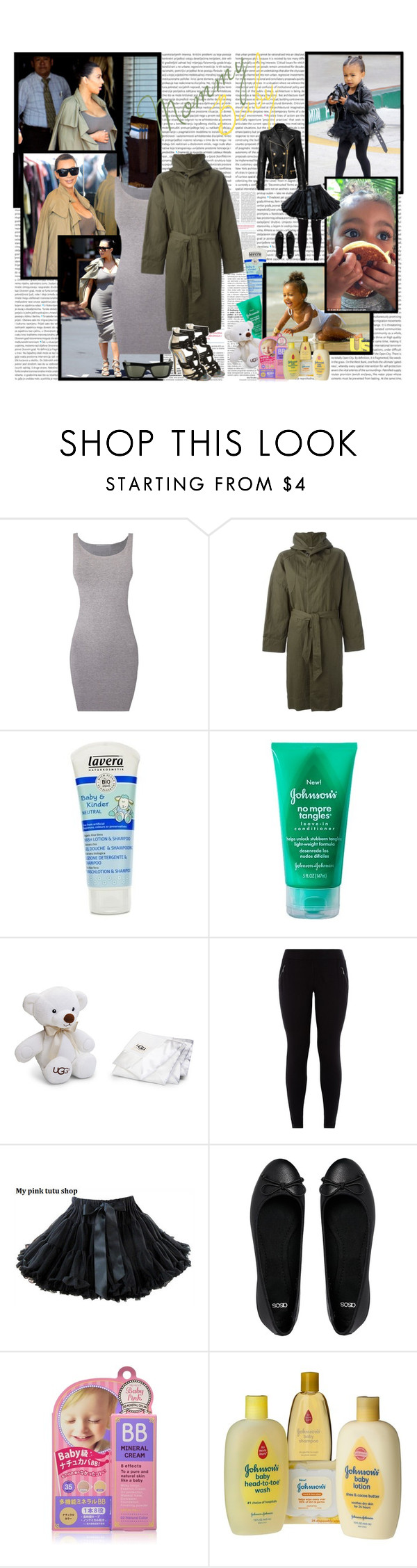 """MommyBaby - Tuesday5"" by fashionaddict-il ❤ liked on Polyvore featuring Oris, Étoile Isabel Marant, Jimmy Choo, Lavera, Johnson's Baby, UGG Australia, Balmain and ASOS"