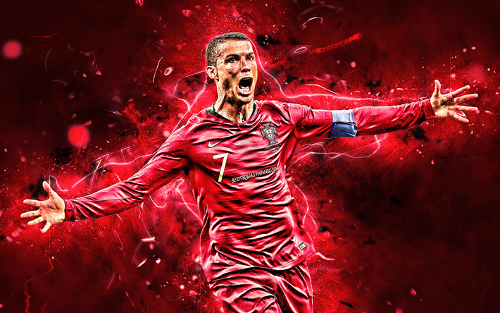 Download Wallpapers Cr7 Goal Cristiano Ronaldo Striker Portugal National Team Soccer Red Neon Lights Fo In 2020 Cristiano Ronaldo Portugal National Team Ronaldo