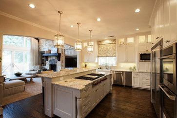 Best Cabinets White Island Sw Anew Gray Walls Both Rooms 400 x 300