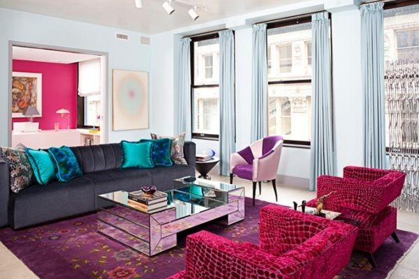 A Jewel Toned Living Room With Images Colourful Living Room Living Room Paint Paint Colors For Living Room