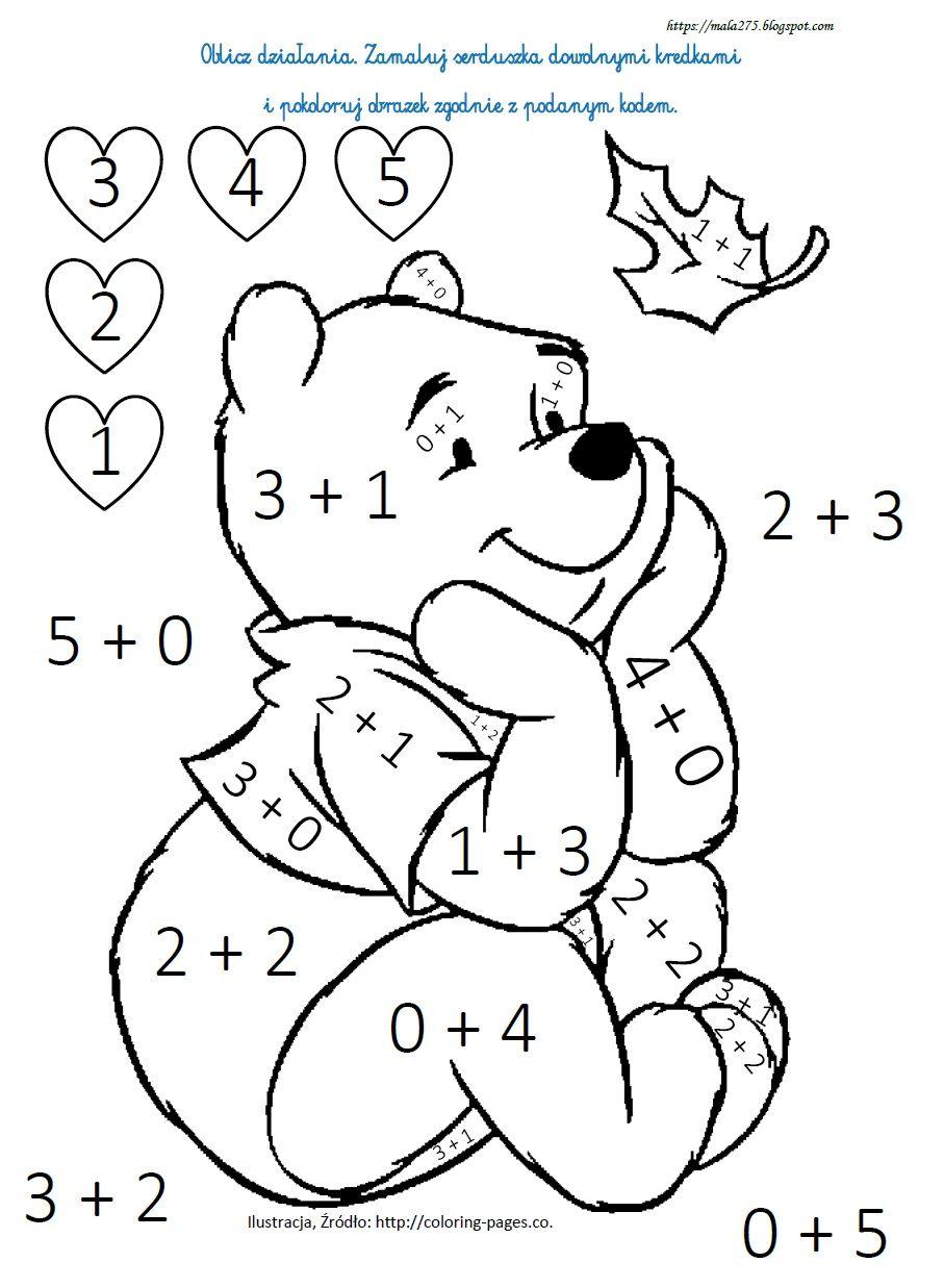 Blog Edukacyjny Dla Dzieci Kolorowanki Matematyczne In 2020 Math Activities Preschool Kids Math Worksheets Math For Kids