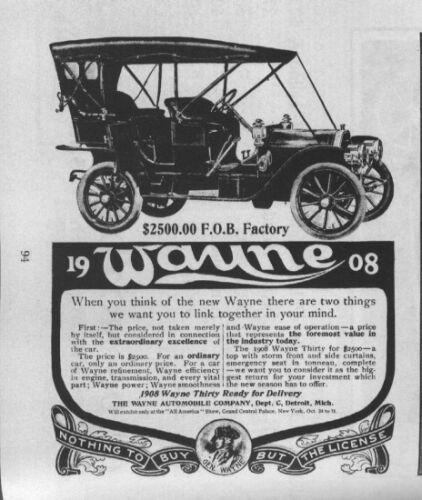 <3 1908 Wayne..Wayne Motor Co. <3