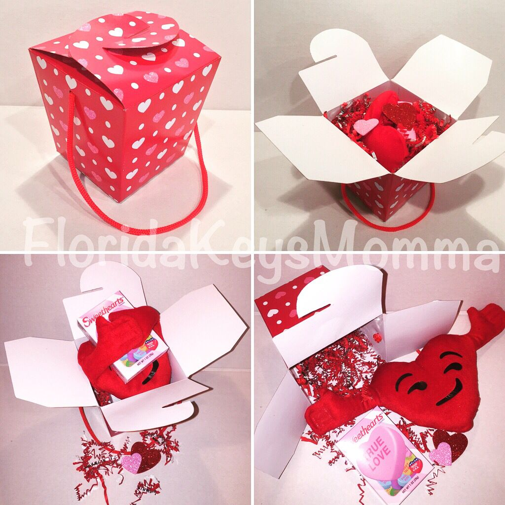 Valentine Personalized Stuffed Heart in Chinese Take Out Box ...