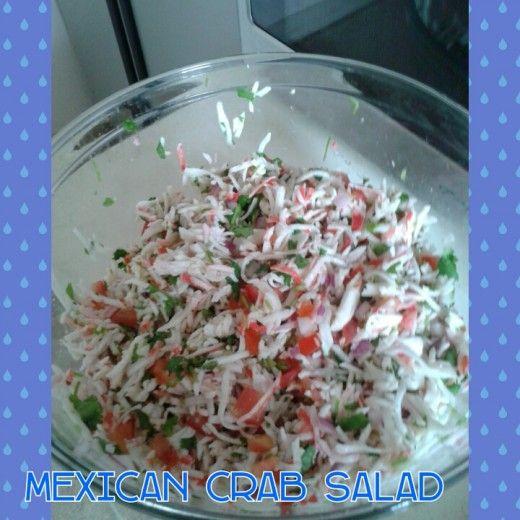How To Make A Mexican Crab Salad Imitation Crab Salad Crab Salad Immitation Crab Recipes