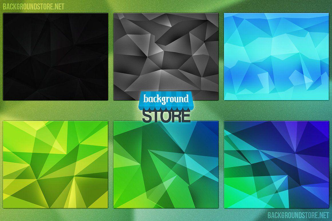 Polygon Backgrounds Bundle x2500pxtexturesproduct