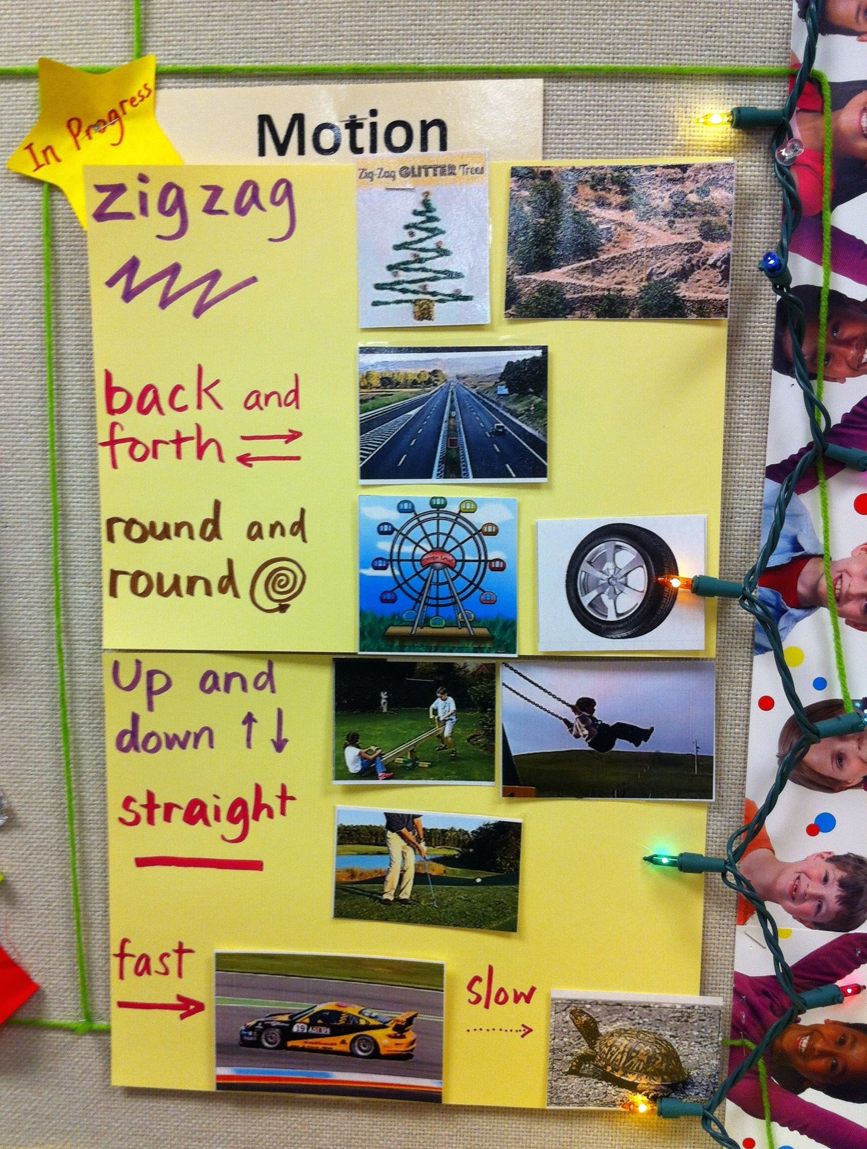 Science TEKS K.6D Observe and describe ways that objects move ...