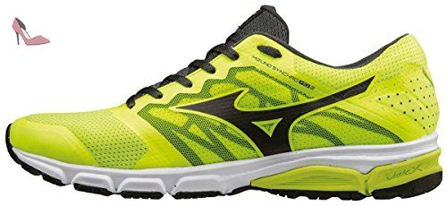 huge selection of 4940f 7f028 Mizuno Synchro Md 2, Chaussures de Running Entrainement Homme, Jaune  (Safety Yellow