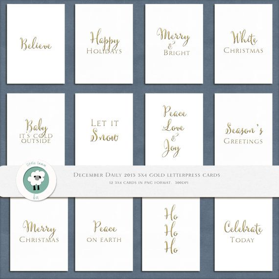 Little Lamm  Co Digital X Gold Letter Press Cards  Project