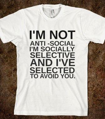 Sarcasm Shirt Anti Social Shirt Funny Shirt Shirts With Sayings Introverted Shirt Funny Quotes Cute Shirts Sarcastic Shirt