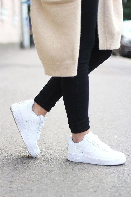 Nike Air Force 1 White Nike Sneakers In 2020 Nike Shoes Women Nike Air Force Outfit Nike Free Shoes