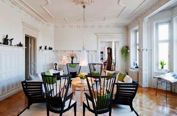 Modelliertes Wohnzimmer-Design und Vertäfelungsideen