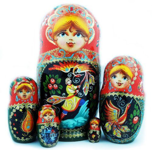 4 in Paint yourself u-503.4 Plain Blank Unpainted Russian Nesting Doll 3 pc