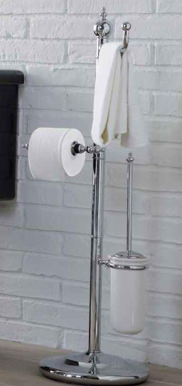 landhaus bad accessoires toilettenpapierhalter mit handtuchhalter und toilettenbrste freistehend