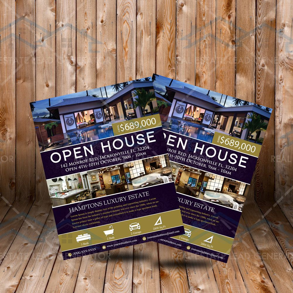 Elegant Realtor Open House Flyer Real Estate Listing Flyer