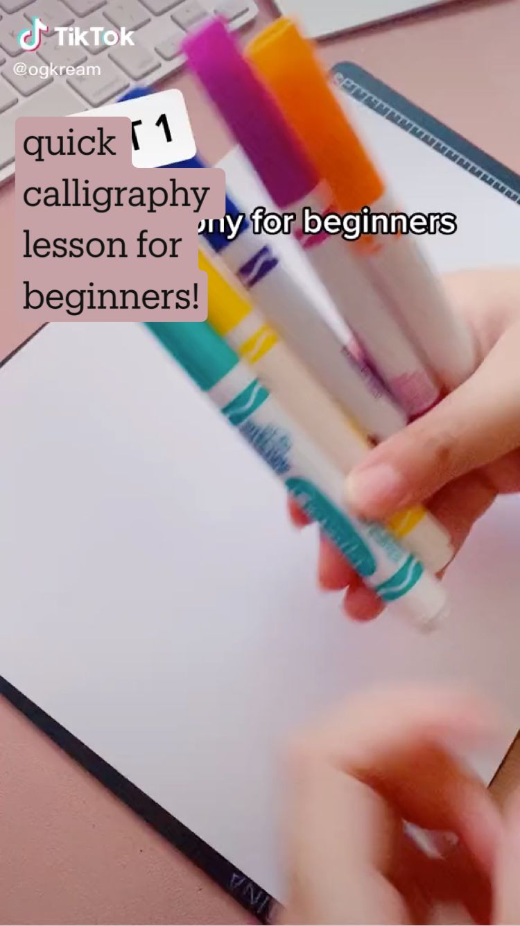 quick calligraphy lesson for beginners!