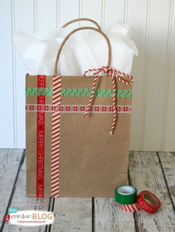 Easy Diy Gift Wrap Quick And Holiday Wring Using Bags Glitter Washi Tape Create Your Own Templates Simple Fun Designs