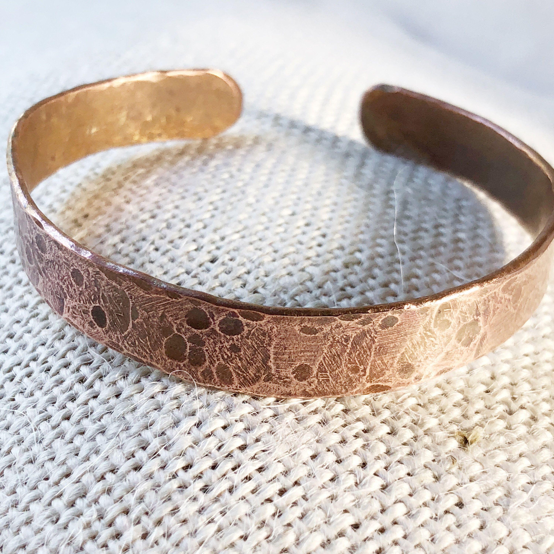 Mens Copper Bracelet Personalized