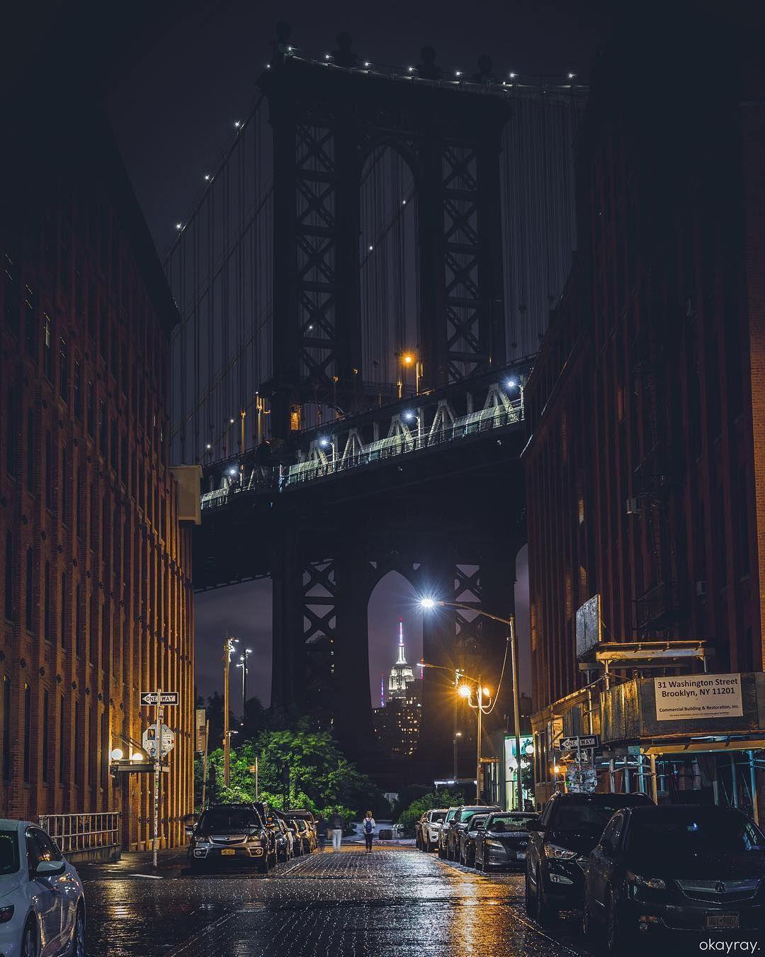 Dumbo Night City Aesthetic New York City Around The Worlds
