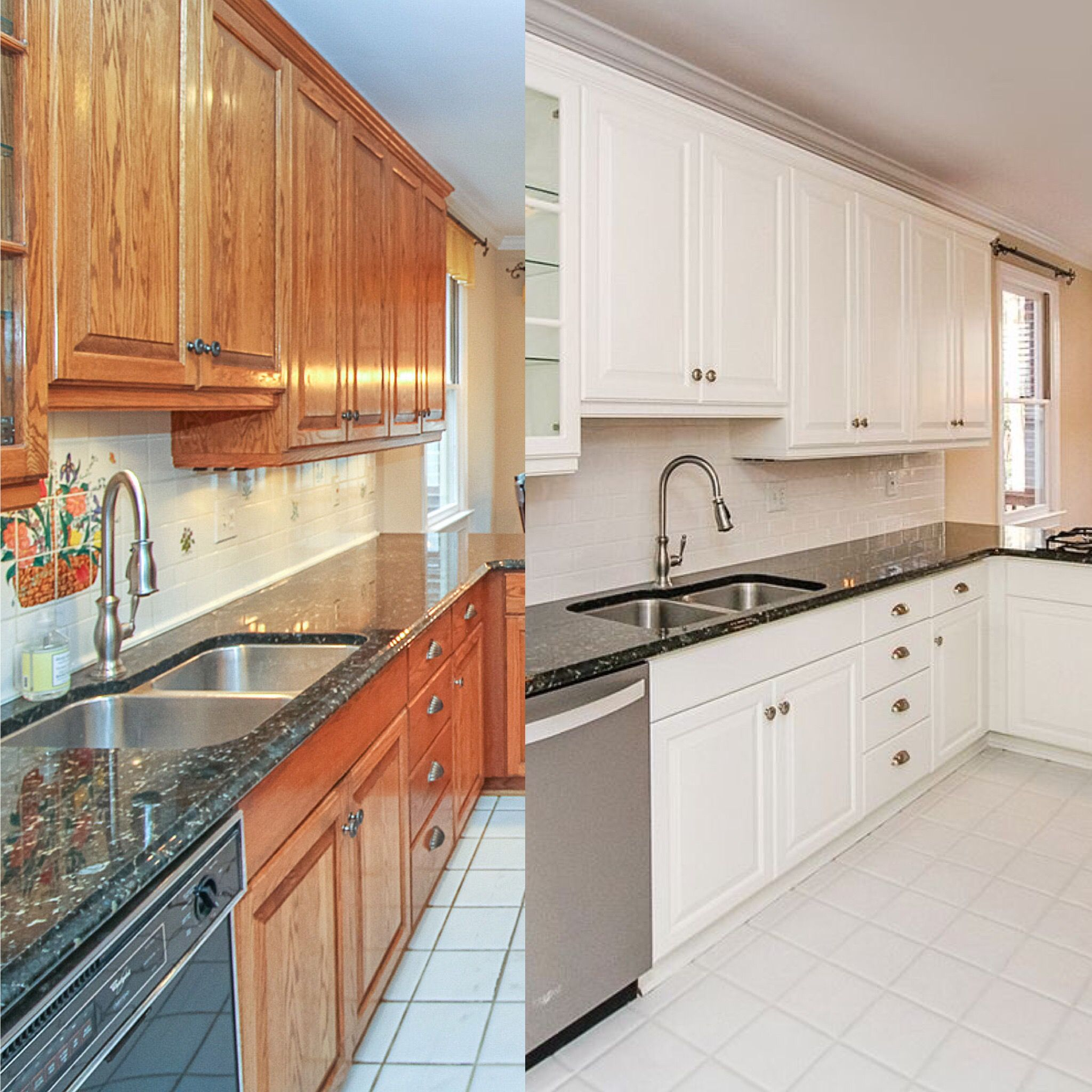before and after painted cabinets with benjamin moore white dove kitchen design decor on kitchen cabinets painted before and after id=17770