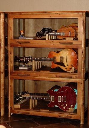 Katahdin Studio Furniture Sundance Guitar Cabinet Display Stand
