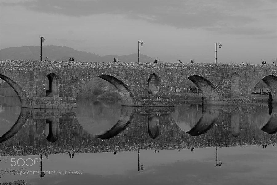 Medieval Bridge in B & W!! by pjbragaj
