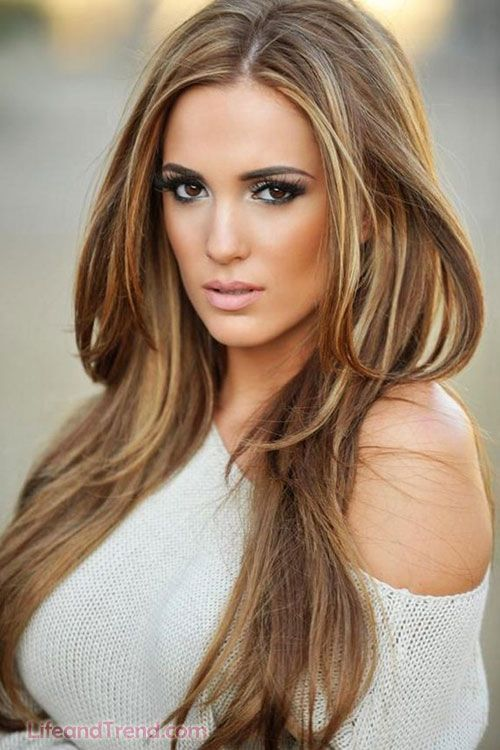 11 Stylish Hair Color Ideas From Celebs   Long dark hairstyles ...