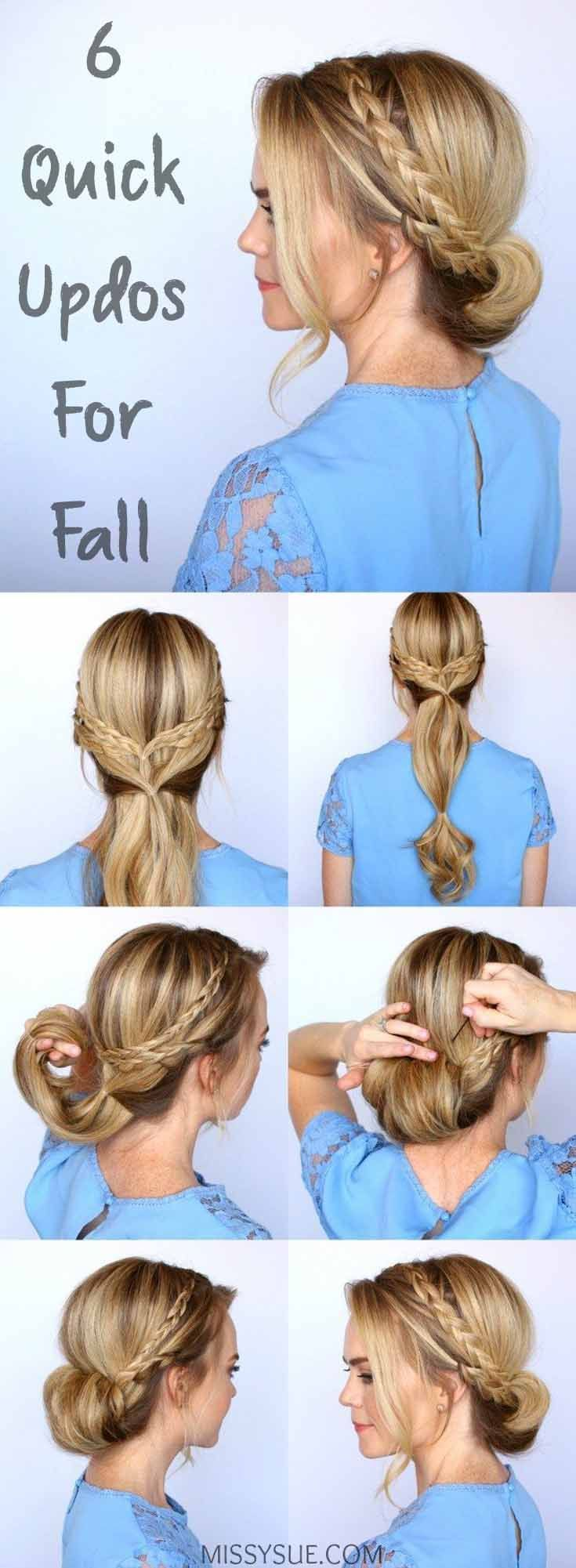 Updos hairstyles are always trendy and popular and the internet is