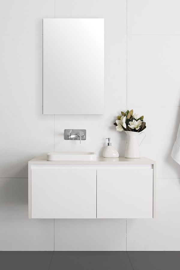 Captivating Fuji Full Depth Vanity | Architectural Designer Products. Fresh White  Vanity With Waterfall Benchtop