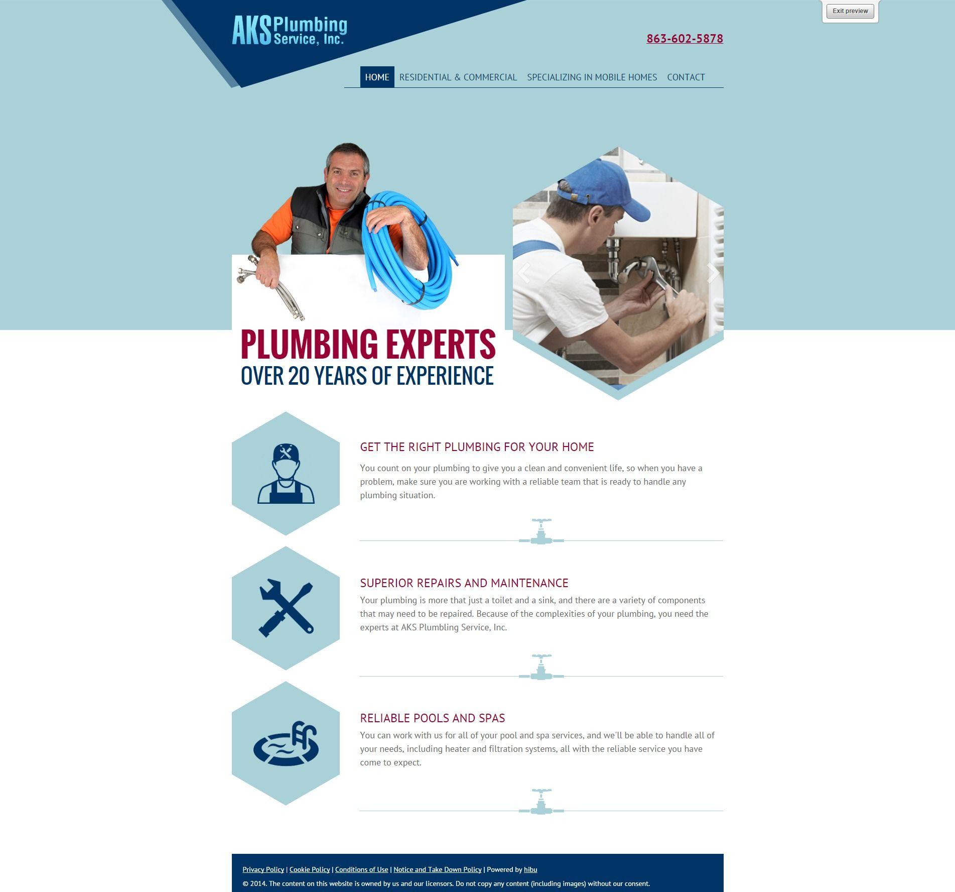 Plumbing website | web templates | Pinterest