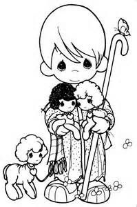 Shepherd & sheep coloring page precious moments children's The Good Shepherd Coloring Page The Shepherd Coloring Page and His Flock For Good Shepherd Sheep Coloring Page