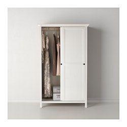 ikea hemnes kleiderschrank mit 2 schiebetren wei gebeizt aus massivholz - Ikea Kleiderschrank Hemnes