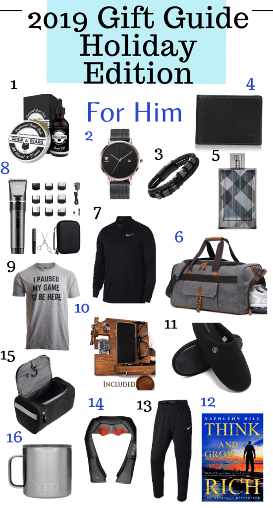 2019 Holiday Gift Guide For Him % – Overwhelmed Beauty