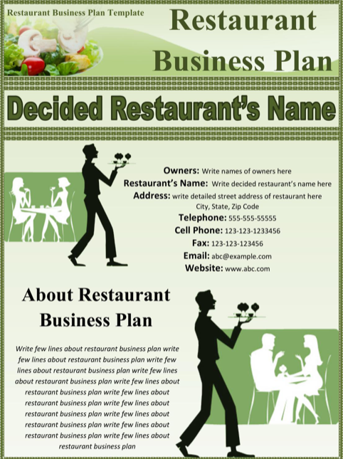 Restaurant business plan sample templatesforms pinterest restaurant business plan sample accmission Image collections