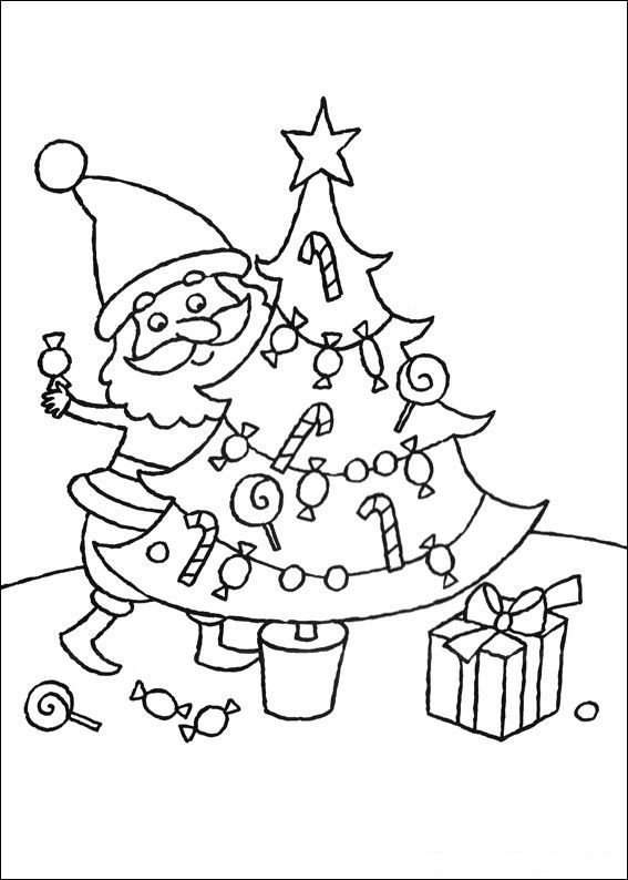 Kleurplaat Kerstmis Meer De Kerstboom キリスト教 Pinterest