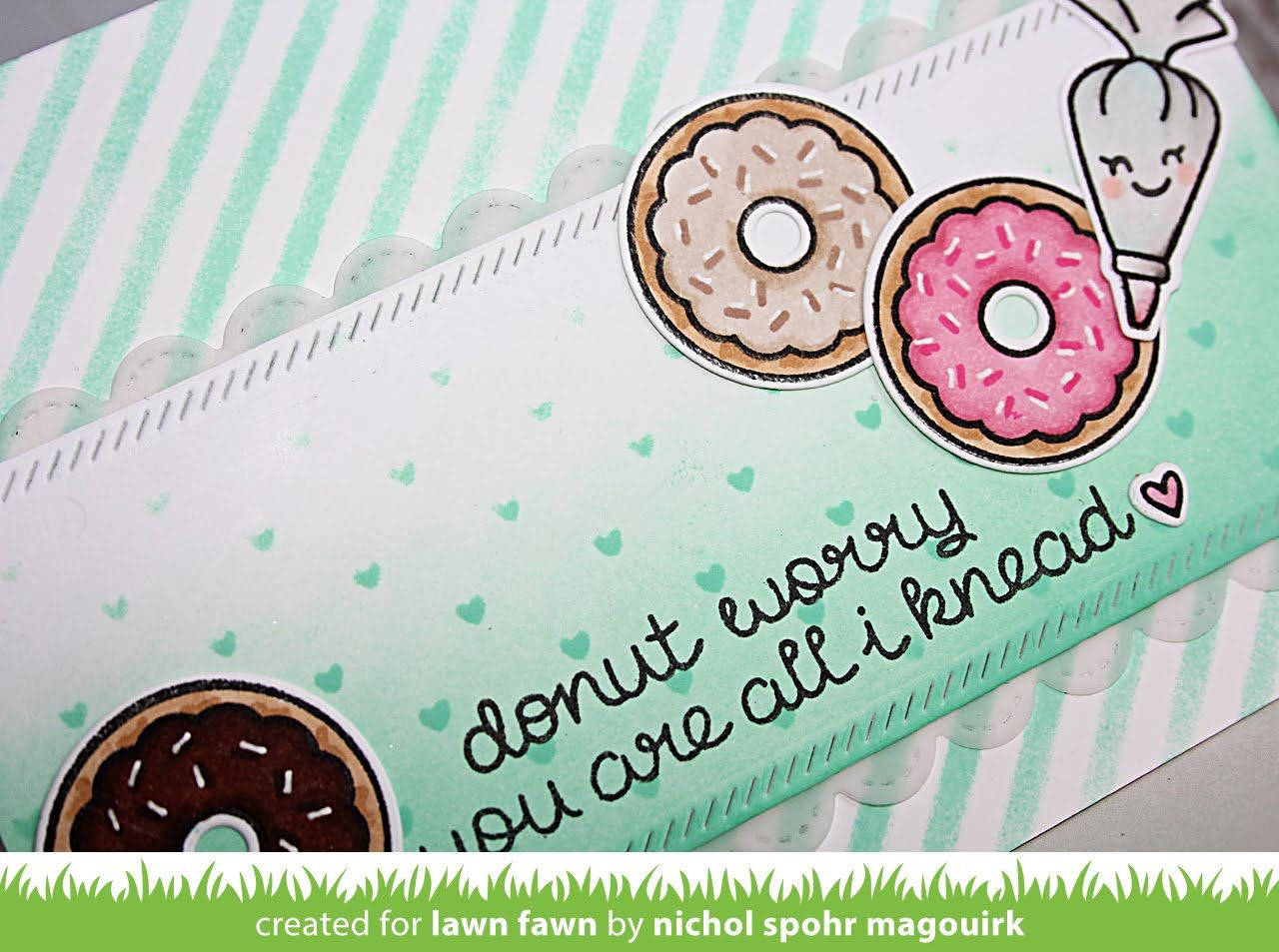 This video features a donut themed card with the Donut Worry Stamps and Dies. * * * SUPPLIES LISTED BELOW * * * More info: http://tinyurl.com/j6ypq97 ——— S U...
