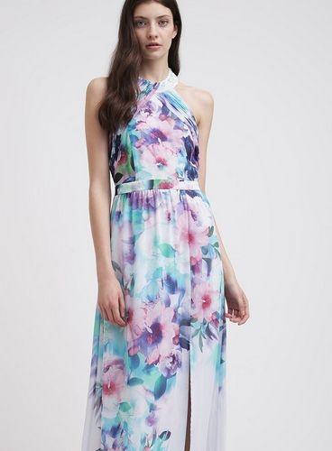 Lipsy Długa Sukienka Długa Maxi Wesele Lato W Kwiaty Multi