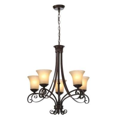 Hampton Bay Essex 5 Light Aged Black Chandelier With Tea Stained Glass Shades 14707 The Home Depot Black Light Bulbs Black Chandelier Chandelier Lighting Fixtures