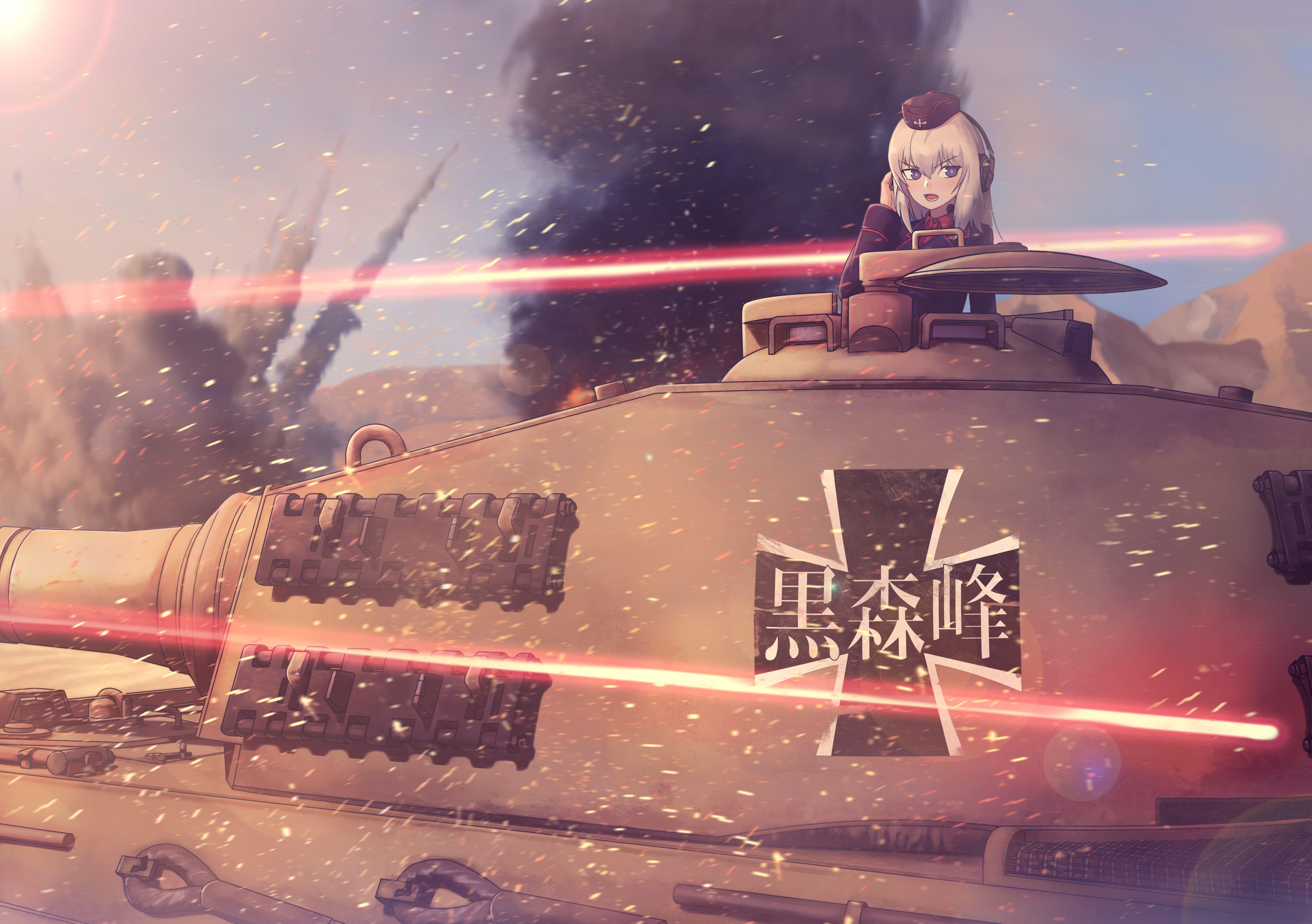 Anime Anime Girls Girls Und Panzer Itsumi Erika Tiger Ii 4k Wallpaper Hdwallpaper Desktop สาวอน เมะ ทหาร ศ ลปะอะน เมะ